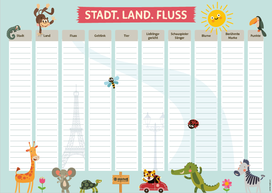 Land fluss punkte stadt Spieletipp: Stadt,