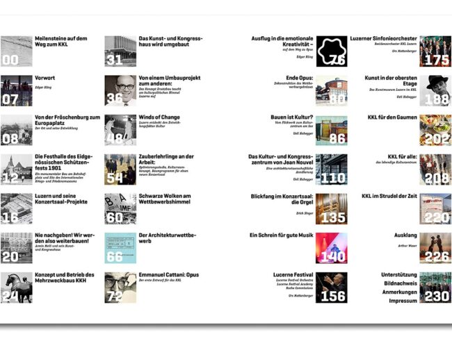 KKL Story Inhaltsverzeichnis
